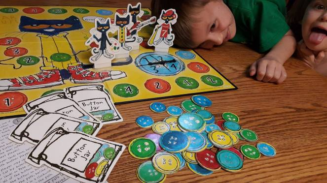 Pete the Cat Groovy Buttons Game – Lost and Farm